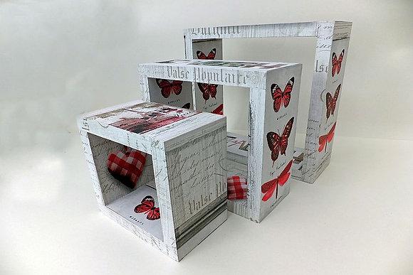 Vintage Wooden Cube Set
