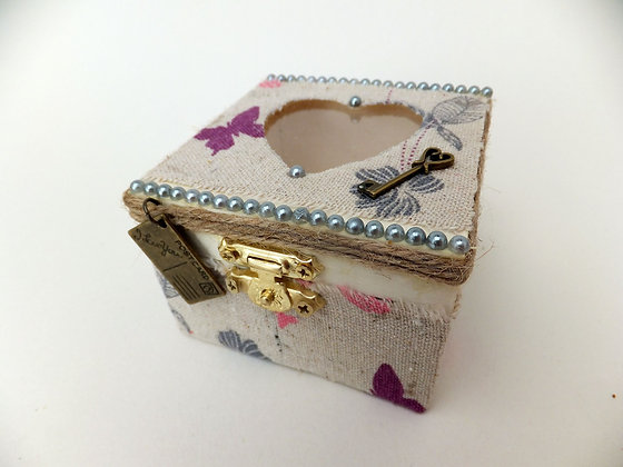 Vintage Hessian Keepsake Box