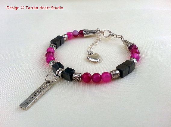 Pink Agate Bracelet - Single