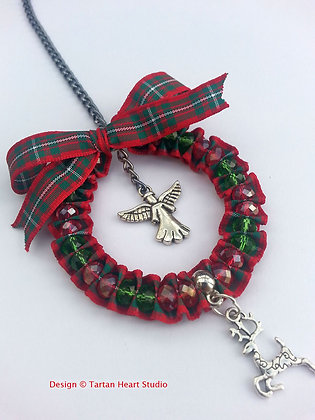 Hand-Crafted Christmas Decoration - Red Tartan