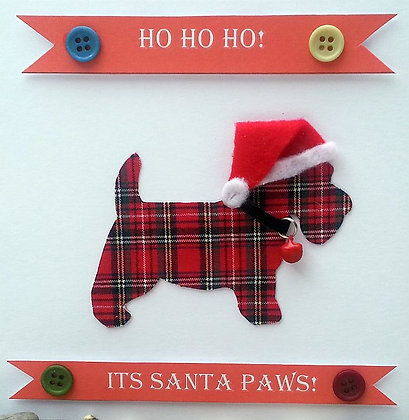 Hand-Crafted Christmas Card - Westie