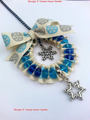 Hand-Crafted Christmas Decoration - Blue Snowflake