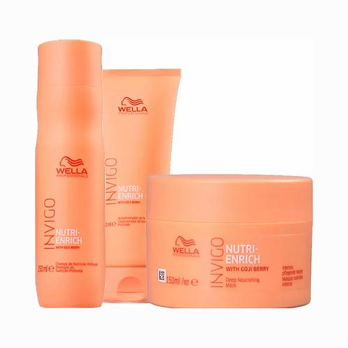Wella Professionals Invigo Nutri-Enrich Kit - Shampoo + Condicionador + Máscara