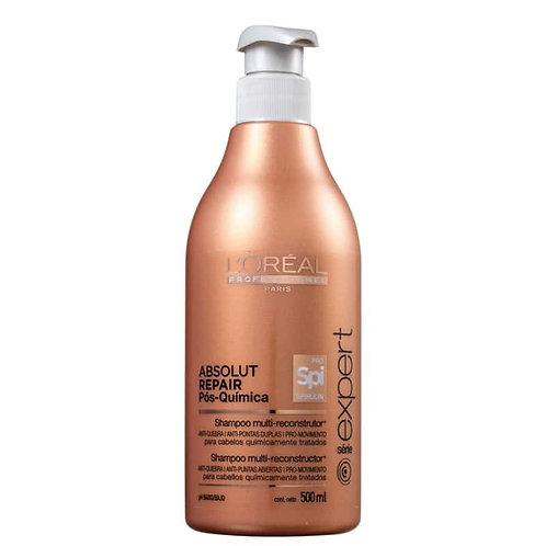 L'Oréal Absolut Repair Pós-Química - Shampoo Multi-Reconstrutor - 500m