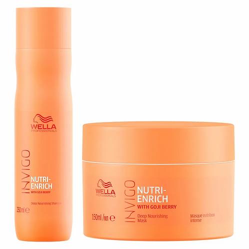 Wella Professionals Invigo Nutri-Enrich Kit - Shampoo + Máscara