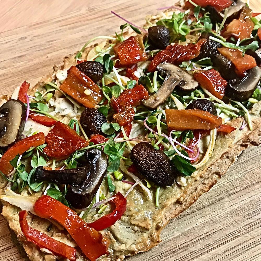 Gluten-Free Quinoa Pizza | Cancer's A Bitch Blog