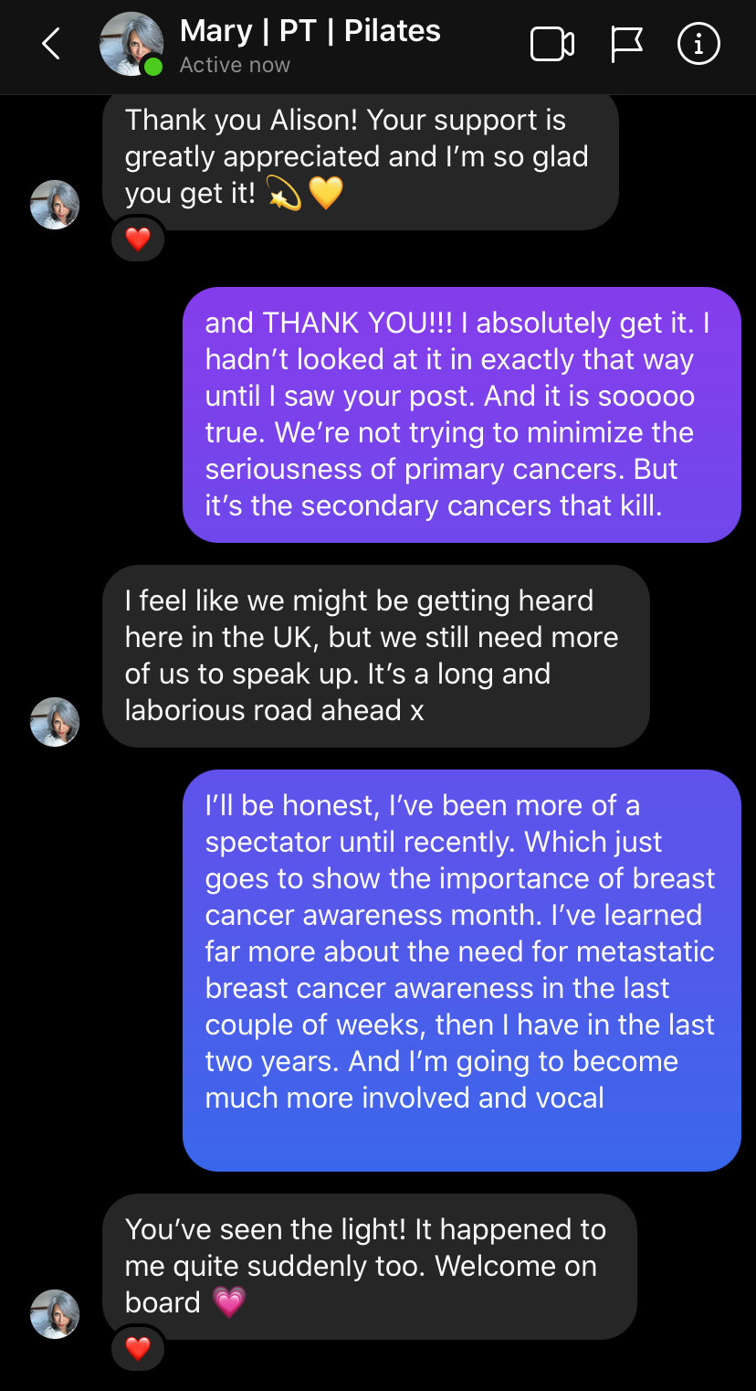 Insta DM w/ @MaryHuckle | Cancer's A Bitch Blog