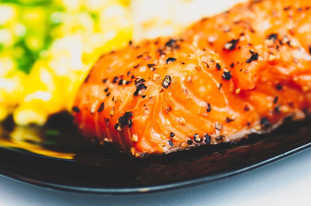 Salmon Steak | Cancer's A Bitch Blog