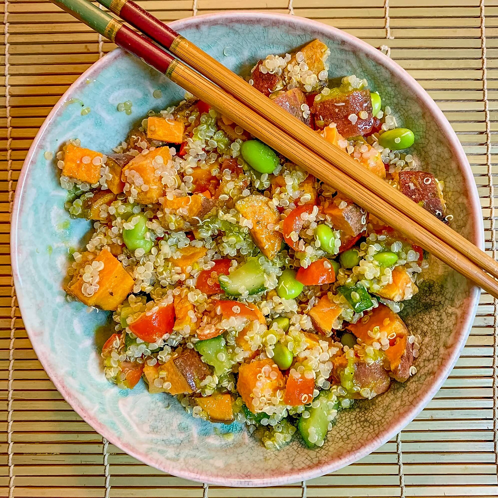 Colourful Quinoa Bowl Recipe | Cancer's A Bitch Blog