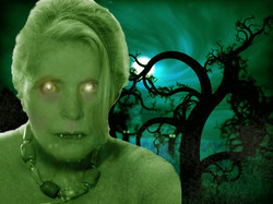 Green Zombie Woman