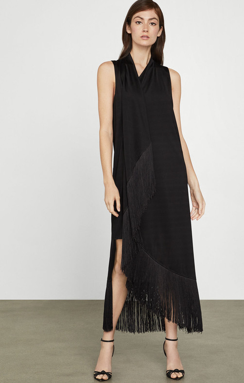 Asymmetric Fringe Dress