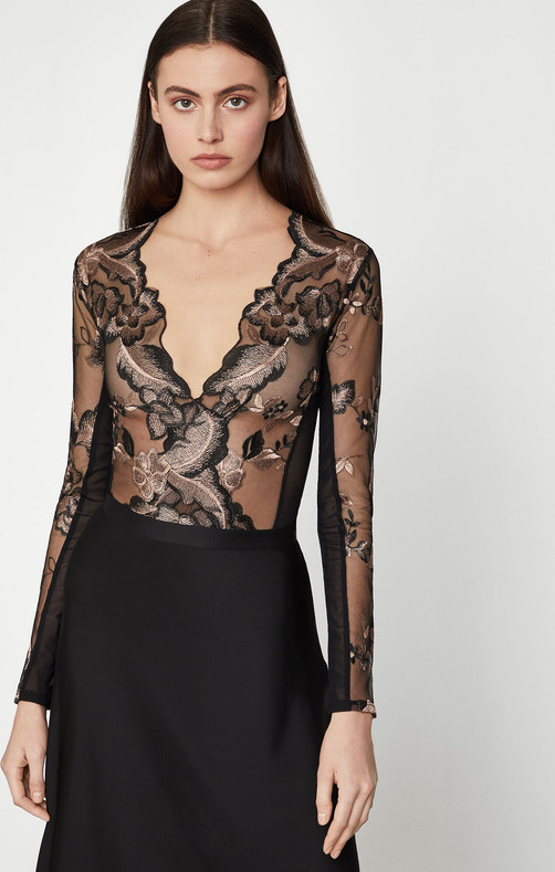 Sheer Embroidered Boysuit