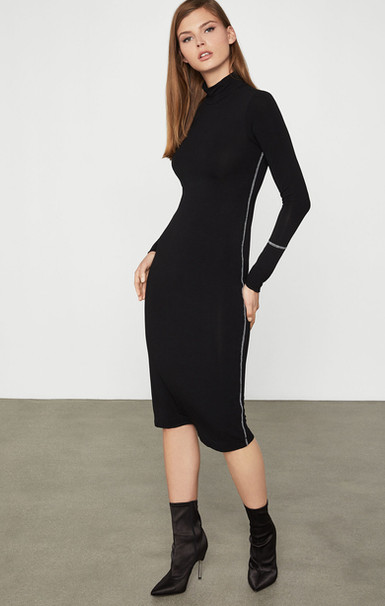 Turtleneck Jersey Dress