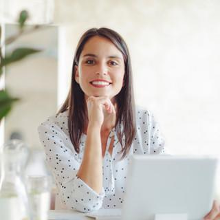 Woman Working in Modern Office