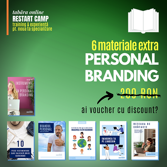 Pachet 6 materiale extra PERSONAL BRANDING