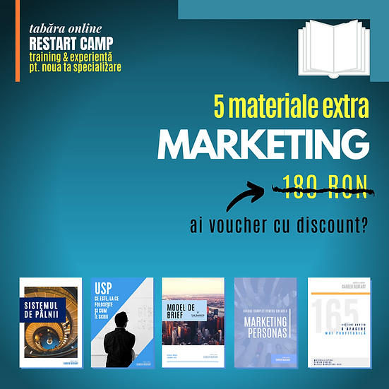 Pachet 5 materiale extra MARKETING