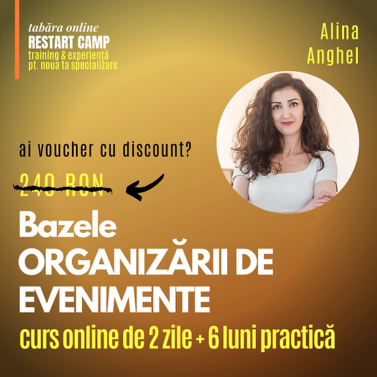 Cursul Bazele ORGANIZARII DE EVENIMENTE