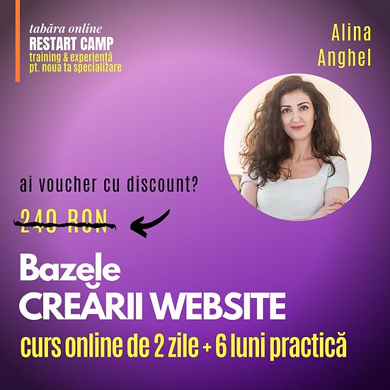 Cursul Bazele CREARII UNUI WEBSITE (fara cunostinte de programare)