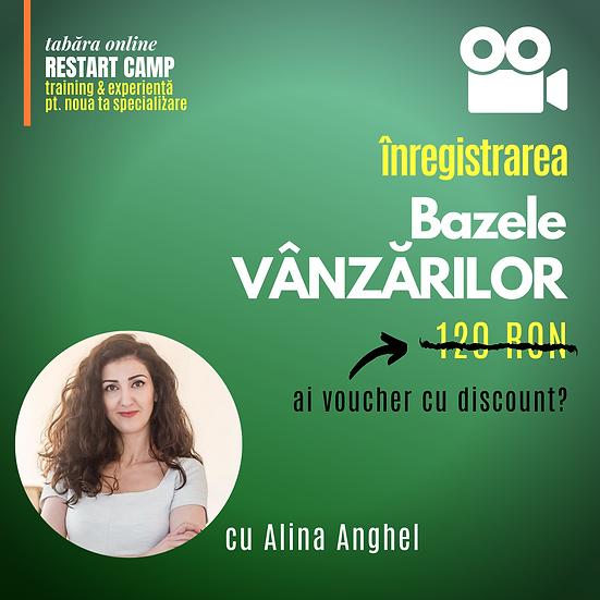 Inregistrarea video a cursului Bazele VANZARILOR