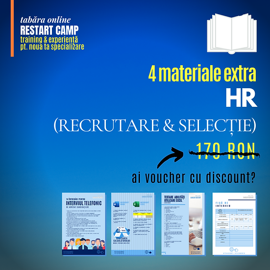 Pachet 4 materiale extra HR (RECRUTARE SI SELECTIE)
