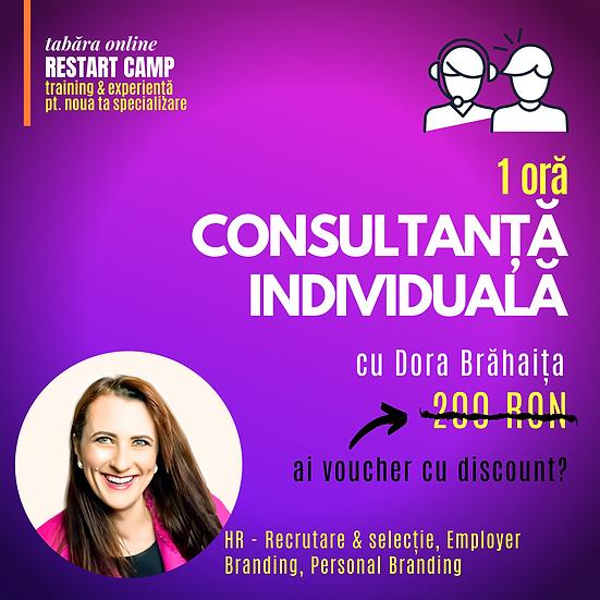 1 ora de consultanta individuala cu Dora Brahaita