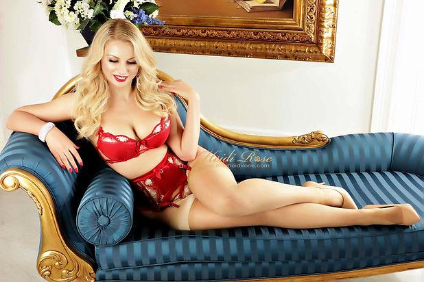 Heidi in red lingerie 2