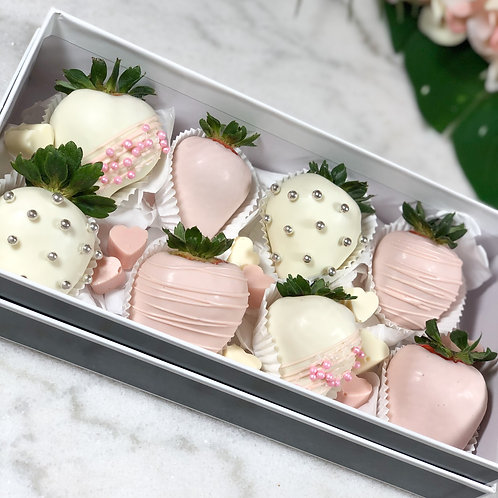 Pink Chocolate Strawberry Box front view
