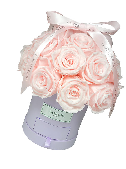 timeless pink preserved rose dome bucket vancouver front