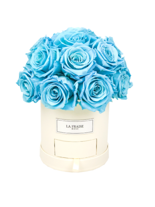 timeless preserved rose dome bucket front view