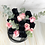 Black pink chocolate strawberry rose bouquet vancouver top close