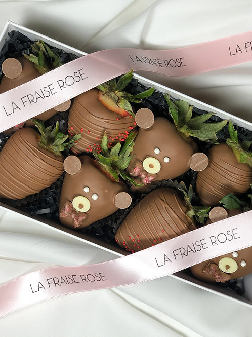 Baby Bear Chocolate Strawberry Box front view