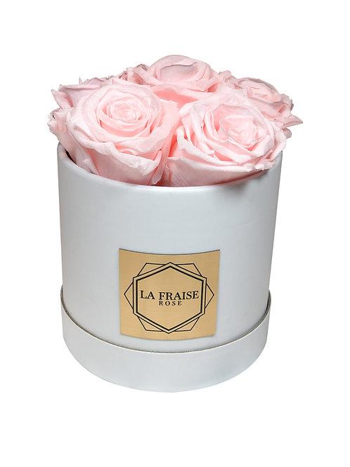 elegant rose bucket preserved vancouver front