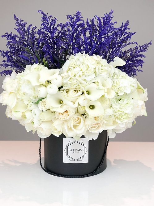 lilac sky rose bouquet vancouver fresh flower delivery front