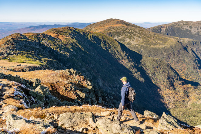 High above the Great Gulf Wilderness, White Mountains, NH