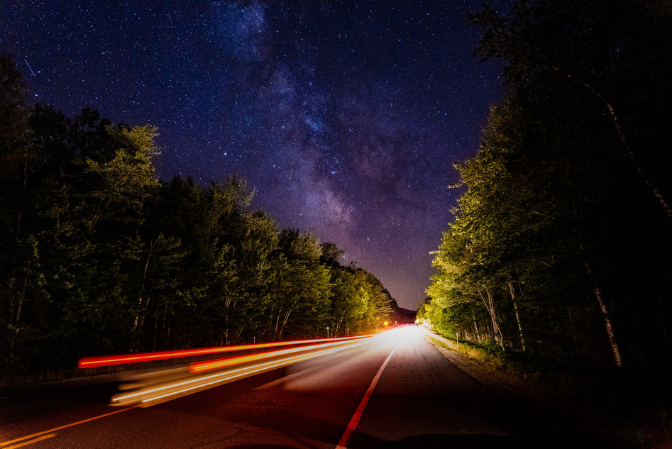 Milky Way in Pinham Notch, White Mountains, NH