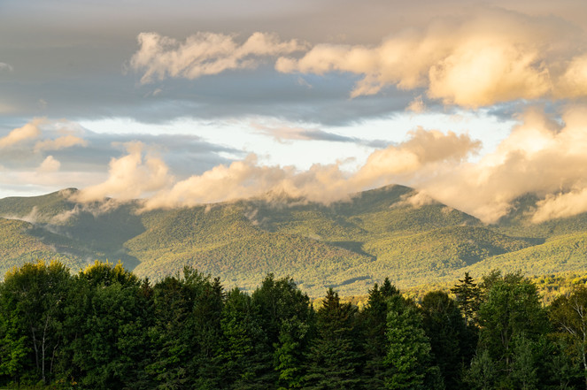 Storm Clouds burning off the Pliny Range, White Mountains, NH