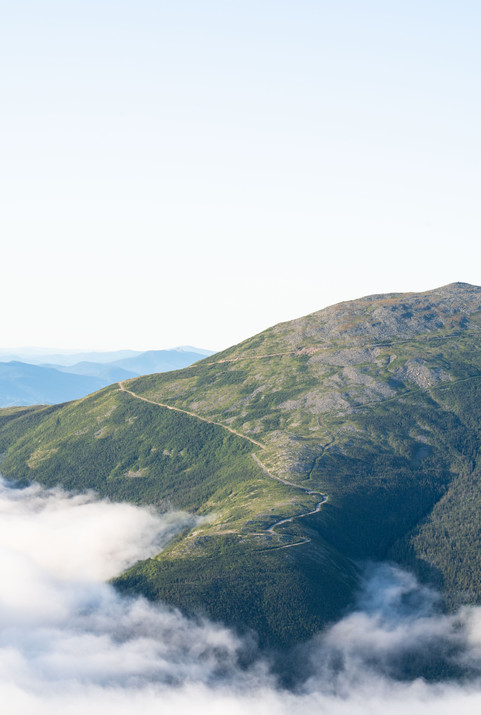 Auto Road Above the Clouds, White Mountains, NH