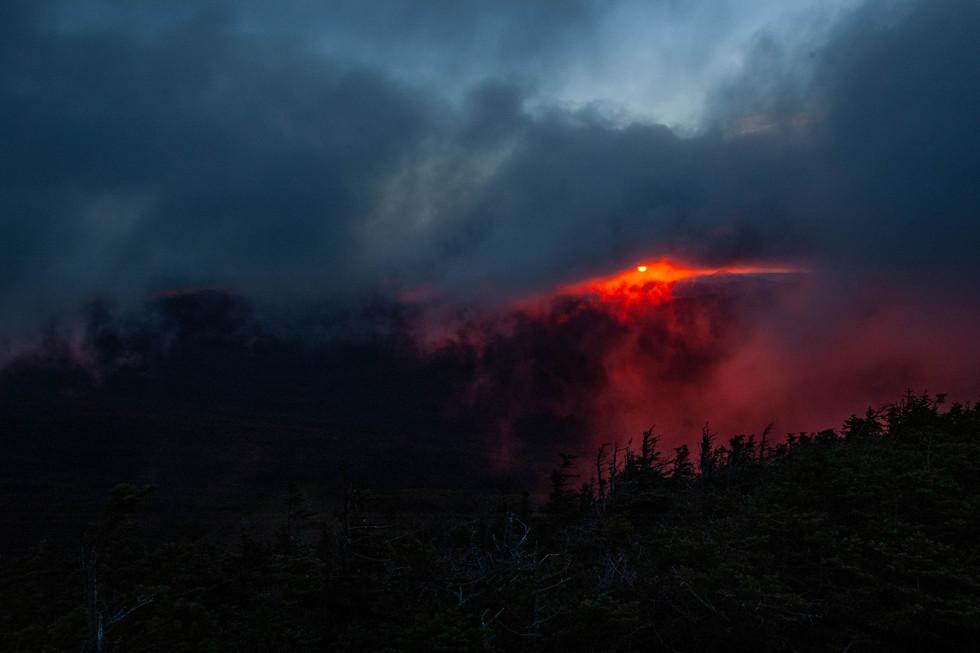 Late Summer sunrise on Mount Bond, White Mountains