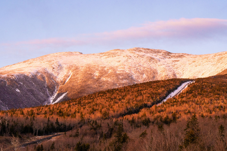 Cog Railway in Early Spring, White Mountains, NH
