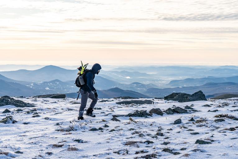 Traversing the Alpine Landscape below Boott Spur, White Mountains, NH