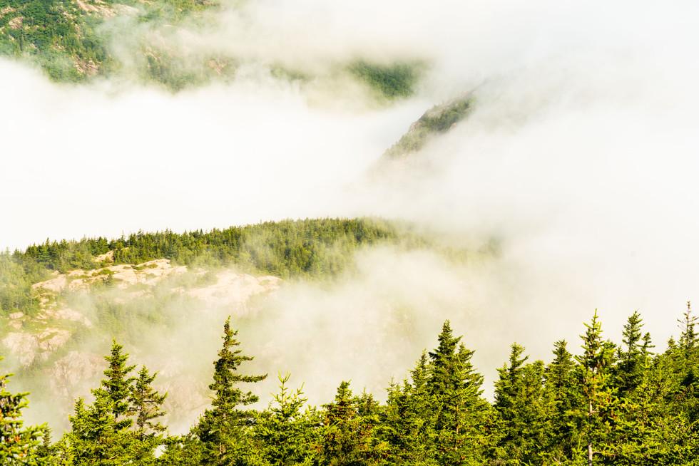 Clouds over Jordan Pond, Acadia National Park, ME