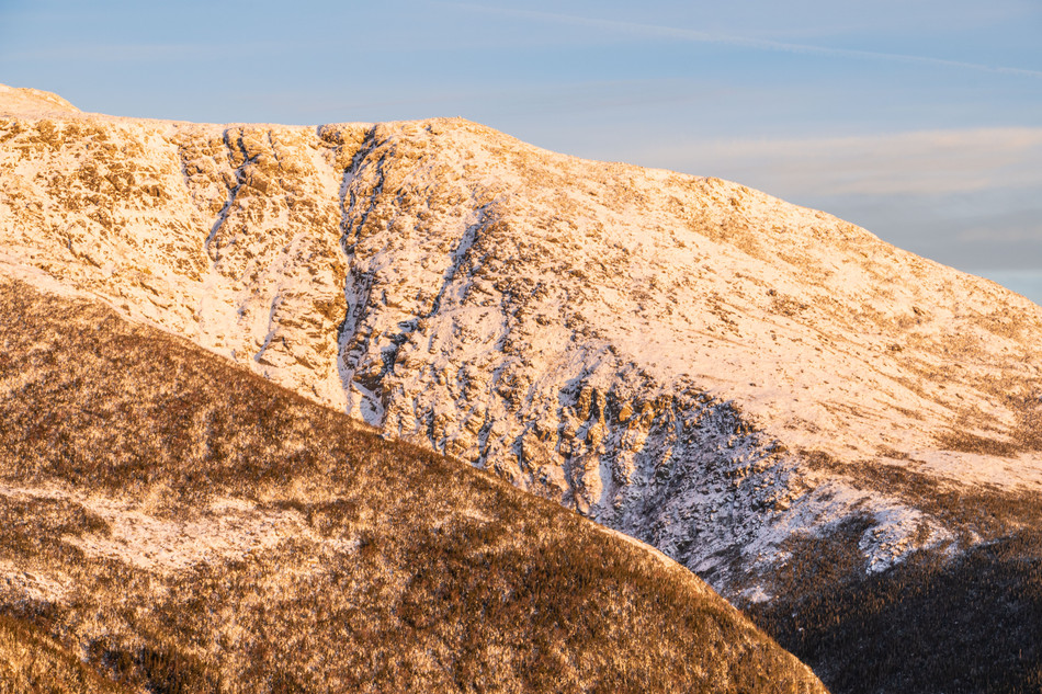 Alpenglow on Huntington Ravine, White Mountains, NH