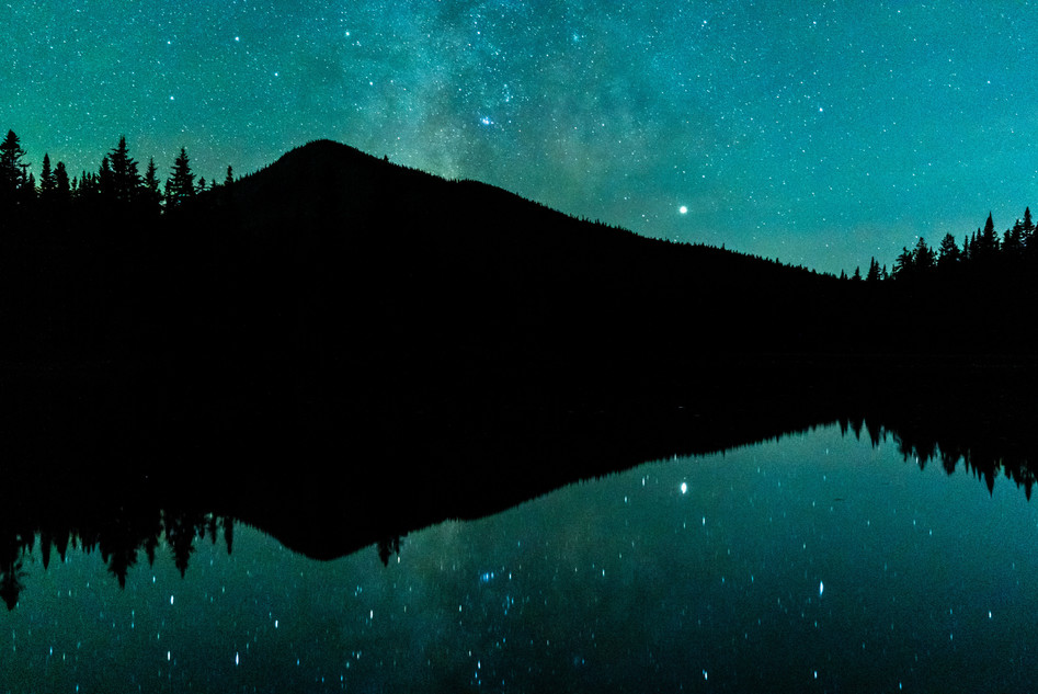 Milky Way over Unknown Pond, White Mountains, NH
