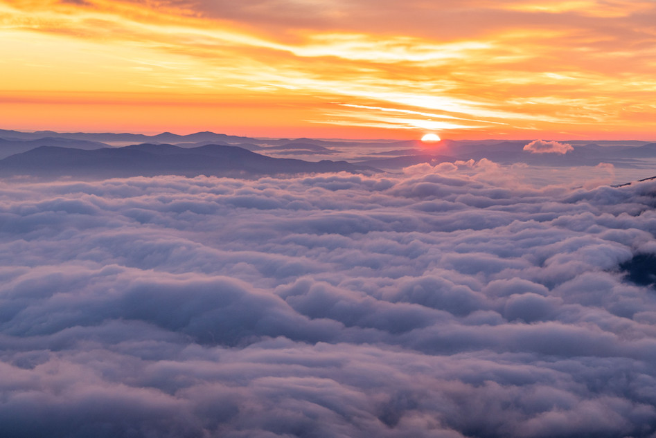 Sunrise above the Clouds, White Mountains, NH