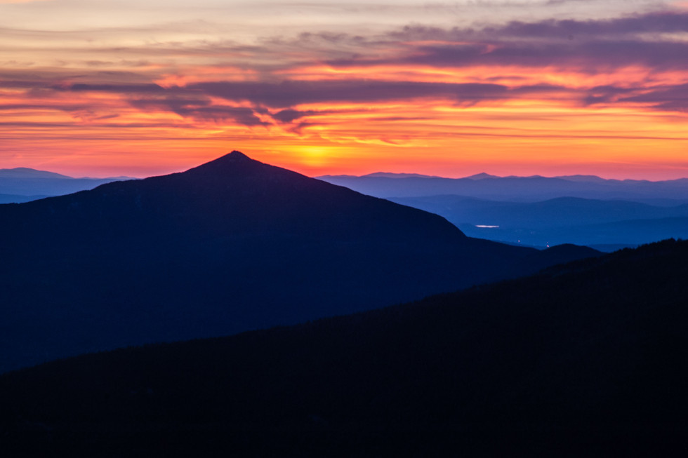 Fire Sky over Mount Garfield, White Mountains