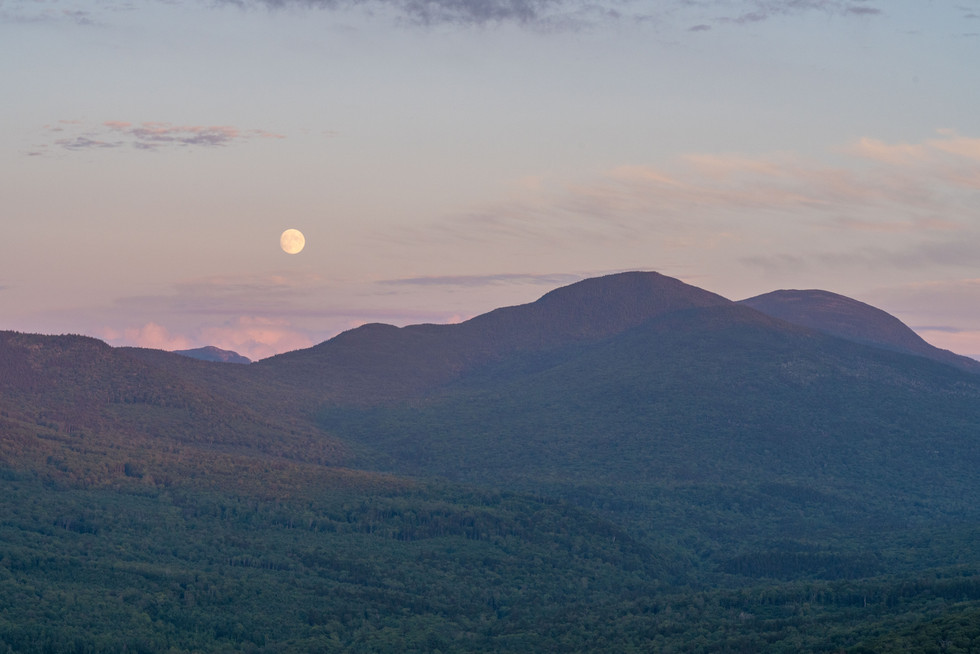 Moon Rise behind Mount Tom and Field, White Mountains, NH