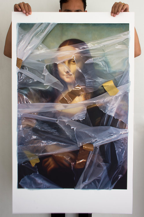 Mona Lisa (wrapped) - Painted Edition