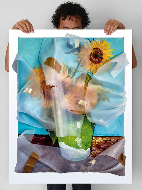 Sunflowers (wrapped) - Painted Edition Artist Proof (2)