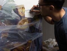Mona Lisa in progress