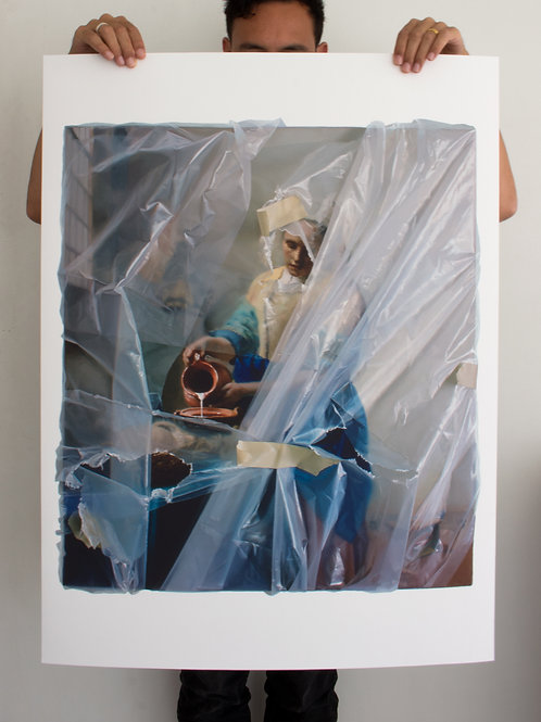 The Milkmaid (wrapped) - Painted Edition
